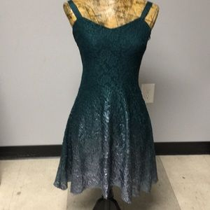 Free People green ombré lace dress